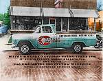 This picture was taken in front of the Harley shop in Macon Georgia ,about 1960. I got a picture of the truck in the same spot,right before they tore...